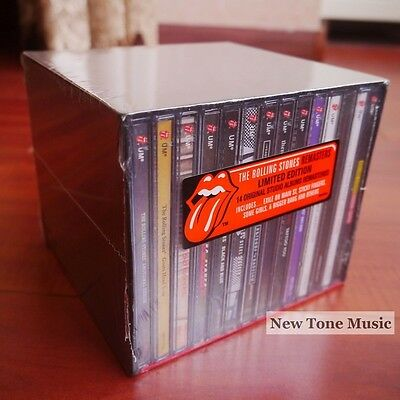 """NEW! The Rolling Stones """"1971-2005"""" 14 CD Box Set Studio Albums Collection"""