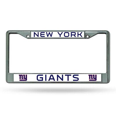 New York Giants Metal License Plate Frame Chrome Color FAST USA SHIPPING New York Usa Framed