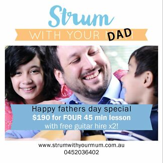 Learn GUITAR with the people you love! Fathers Day-Guitar lessons Manly Manly Area Preview