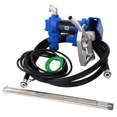 12v Dc 20gpm Gasoline Fuel Transfer Pump Gas Diesel With 13a Manual Gun Bsp New