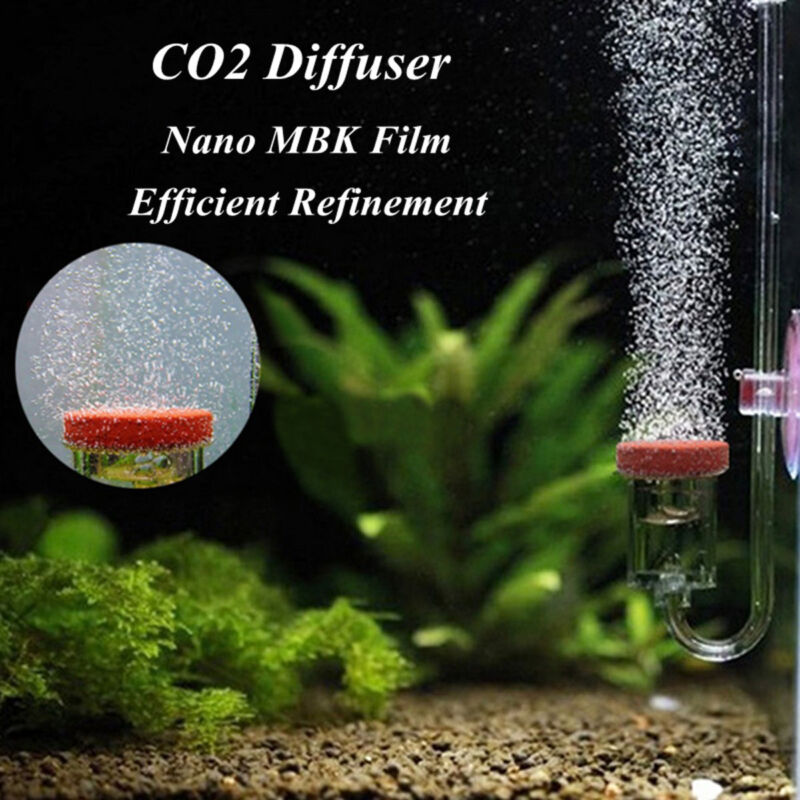 U Shape Acrylic Aquarium CO2 Diffuser Bubble Counter Glass Tube Fish Tank