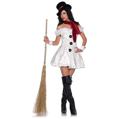 Sexy Snowman Costume Adult Christmas Outfit Fancy Dress