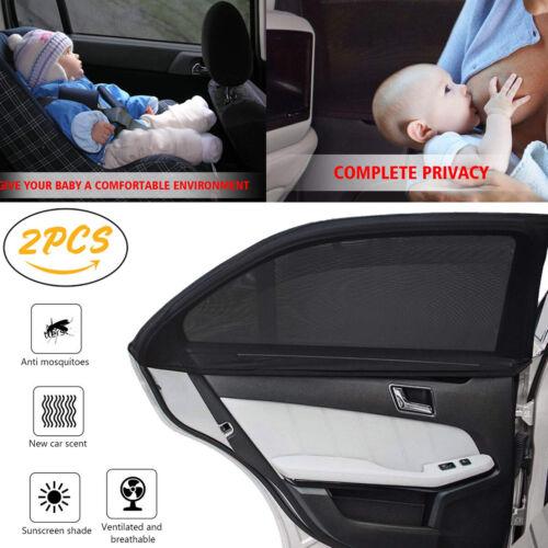 2x Universal Sonnenschutztuch Sonnenblende Auto Seitenscheibe Baby UV Schutz