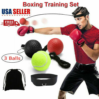 Boxing Reflex Ball Train At Home Equipment Gym Exercise Fight Bundle New Fun MMA