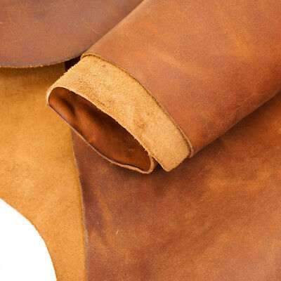 Springfield Leather Co. Ranch Hand Oil Tan Cowhide Leather Rough Cut per SQFT