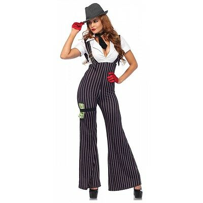 Gangster Costume Adult Sexy Roaring 20s Halloween Fancy Dress - Gangster Costumes Female