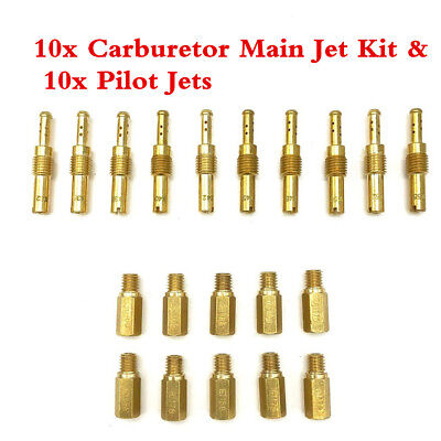 20X Carburetor Main Jets+Slow Pilot Jets For Motorcycle PWK PE Keihin OKO Carb