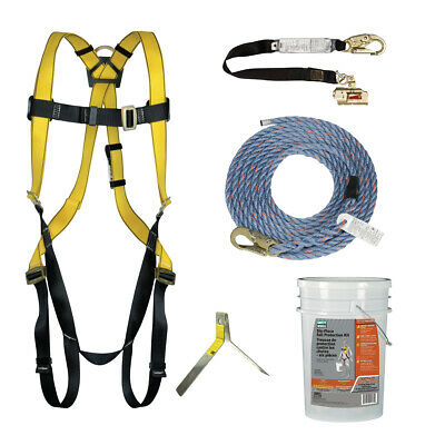 New Msa Safety Works 6 Piece Fall Protection Kit Ansi A10.32 And Osha 10095901