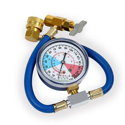 Gauge Valve Refrigerant Pipe R134A Car Air Conditioning Recharge Measuring Hose