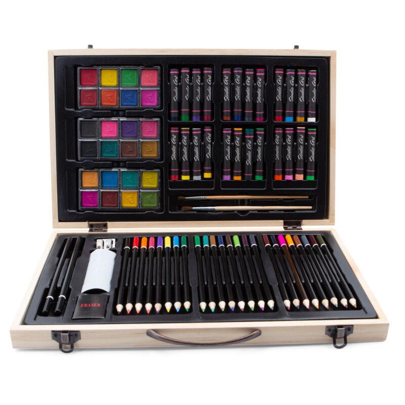 82pc Art Alternatives Color Creativity Artist Set Pencils Draw Oil Pastel Paint