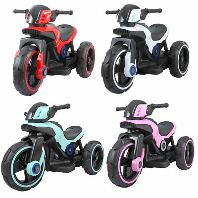 6V Kids Ride On Electric Motorcycle Bicycle Toy Trike Battery Powered 3-wheel
