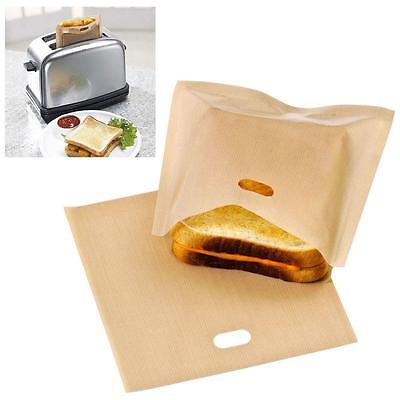 1Pc Toaster Bags for Grilled Cheese Sandwiches Reusable Non-post Bread Bags YZ