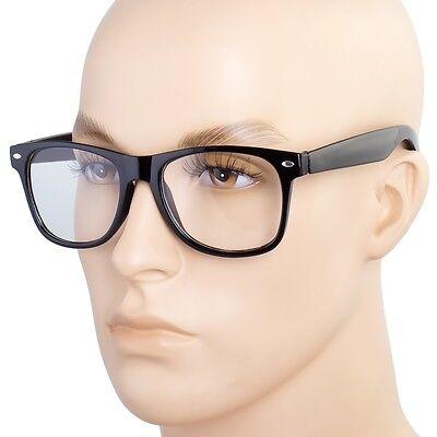 Fashion Retro Unisex men Women Clear Lens Nerd Geek Glasses Eyewear