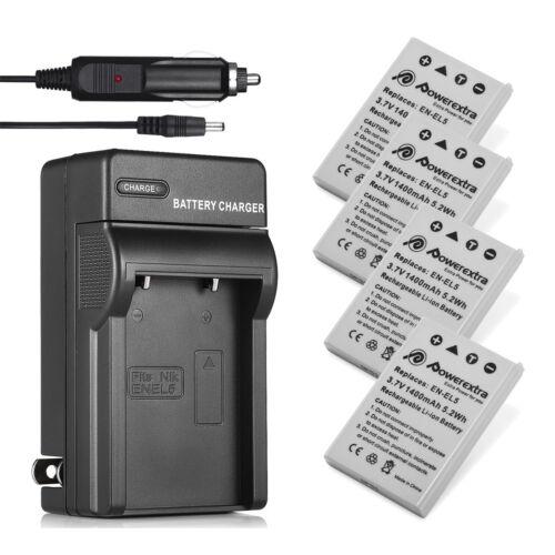 for Nikon Coolpix P500 P510 EN-EL5 Battery & Wall Charger P520 P530 P80 P90 P100