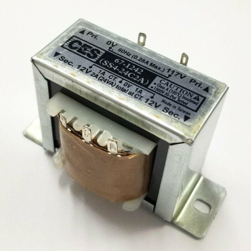 Center Tapped Power Transformer, 117V AC Input / 24V AC @ 2.0A Output