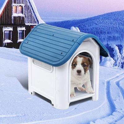 Waterproof Plastic Dog Cat Kennel Puppy Indoor Outdoor House Pet Up to 20LB