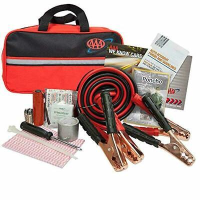 AAA Road Emergency Kit, 42 Piece, Car Jumper Cables, Batteries, Flashlight, etc.