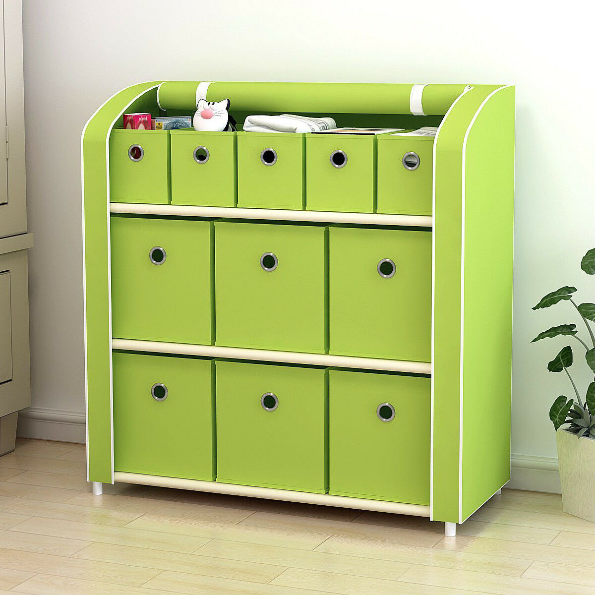 11 Drawers Storage Shelf  Storage Chest Closet Cabinet with