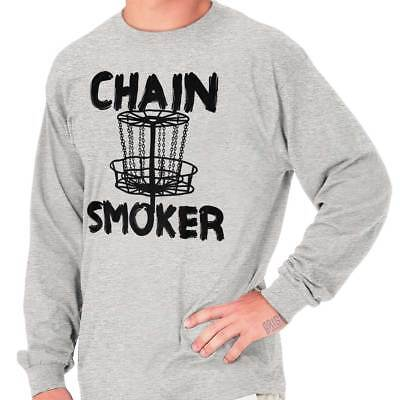 Chain Smoker Frisbee Golf Funny Shirt | Sports Closer Music Long Sleeve T Shirt