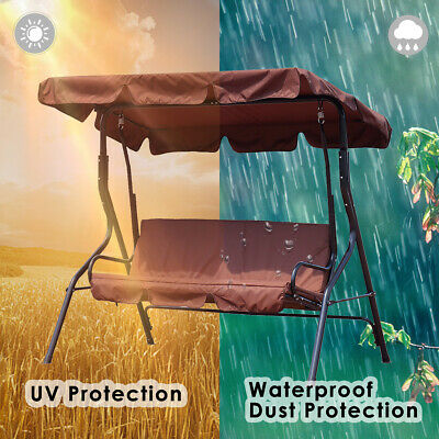 Waterproof Replacement Garden Swing Cushion Chair 2-3 Siter Cover Protect Patio (Patio Chair Cushion Replacement)