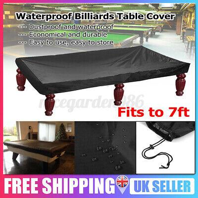 7 FT Billiard Table Cover Pool Snooker Polyester Waterproof Protector Dustproof