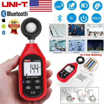 Uni-t Ut383bt Mini Bluetooth Luxmeter Digital Lcd Light Meter Digital Test Tool