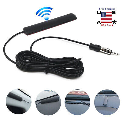 Car Interior Hidden Amplified Antenna Electronic Stereo AM/FM Radio Universal
