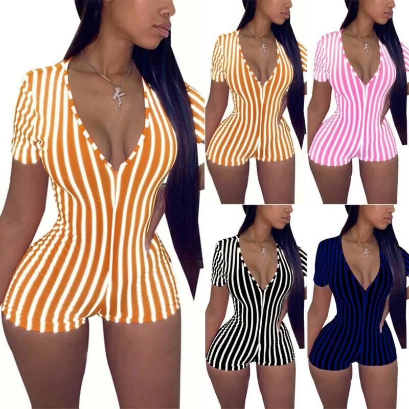 Women Casual Bodycon Rompers Mini Jumpsuit Tights Bodysuit Shorts Pants Joggers Clothing, Shoes & Accessories