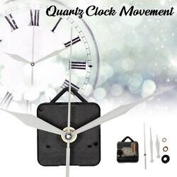2Pcs Silent White Hand Quartz Wall Clock Spindle Movement Mechanism Parts Repair