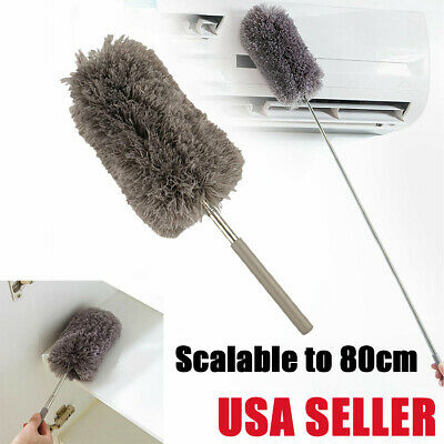 Adjustable Soft Microfiber Feather Duster Dusting Cleaning Brush Household Tool
