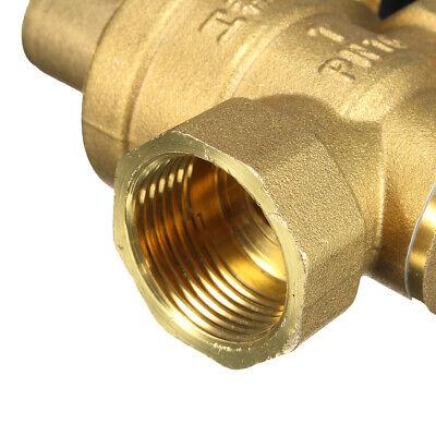 Dn20 Npt 34 Adjustable Brass Water Pressure Regulator Reducer With Gauge Meter