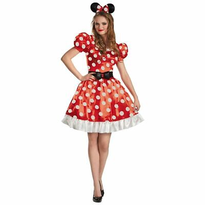 Minnie Mouse Costume Red Dress Womens Classic Adult Outfit