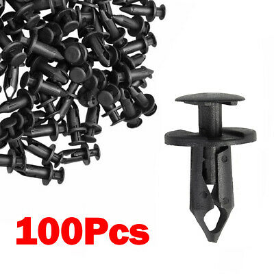 Set Of 100 ATV Retainer Clips Push Pin Splash Guard Body Panel Fit For Honda 8mm