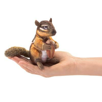 Mini Chipmunk Finger Puppet (Folkmanis Mini Chipmunk with Acorn Finger)