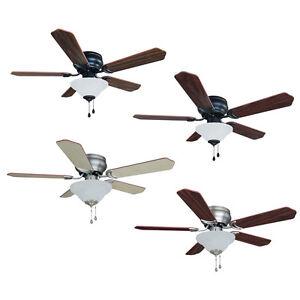 42 inch flush mount hugger ceiling fan w light kit oil. Black Bedroom Furniture Sets. Home Design Ideas