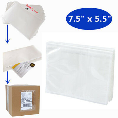 5.5x7.5 Clear Packing List Envelope Adhesive Shipping Document Label Pouches