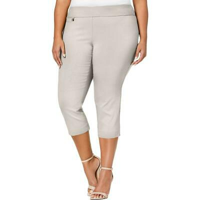 Alfani Womens Woven Tummy Control Casual Capri Pants Plus BHFO 0728