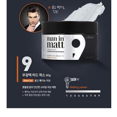 LG Man in Matt 9 Hair Wax 80g Hard Strong Setting 10/10 Korea