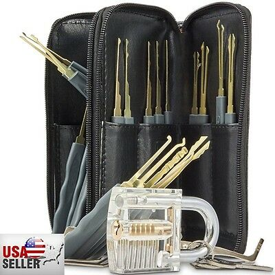 New 26pcs Training Tool Set Locksmith Practice Tools Cutaway Transparent