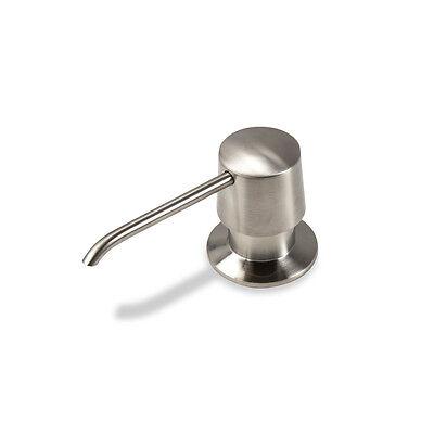 Kitchen Bathroom Sink Soap or Lotion Pump Dispenser Brushed Nickel