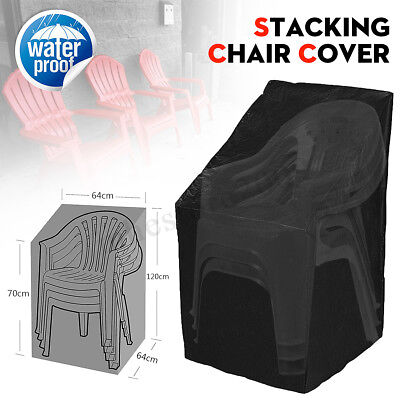 Waterproof Outdoor Stacking Chair Cover Garden Parkland Patio Sofa Furniture ()