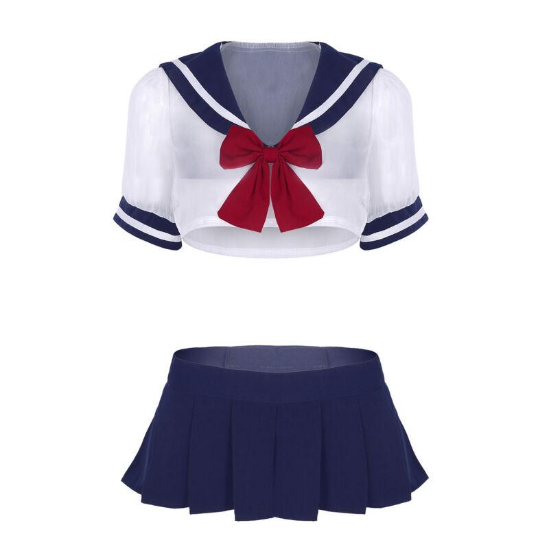 Ladies Girls Naughty School Girl Costume High School -8073