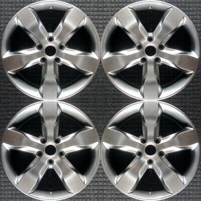 Set 2011 2012 2013 Jeep Grand Cherokee OEM Factory Hyper Silver Wheels Rims 9107