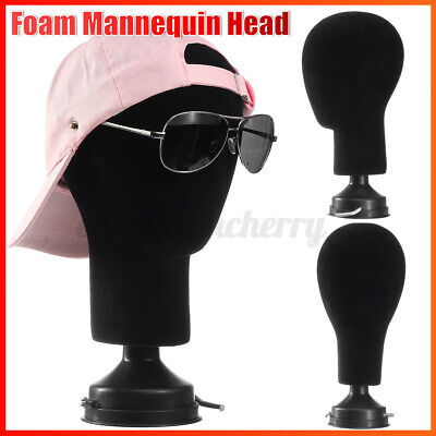 Female Male Foam Mannequin Head Model Hat Wig Display Stand Rack Black