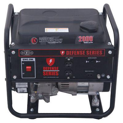 Carroll Stream Cs2000 Defense Series 1600w Watt Gas Generator 120v Portable