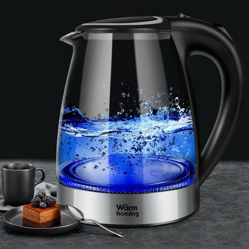 Electric Kettle 1.8L, Cordless BPA-Free Glass Kettle, Hot Water Teapot, Fast