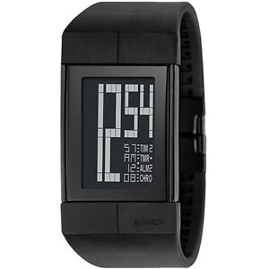 NEW PHILIPPE STARCK BY FOSSIL DIGITAL BLACK WATCH PH1110