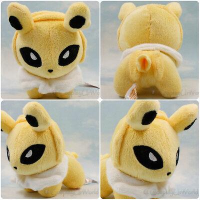Jolteon Electric Pokemon Eevee Evolution Soft Plush Doll Toy Gift Yellow PKM#135