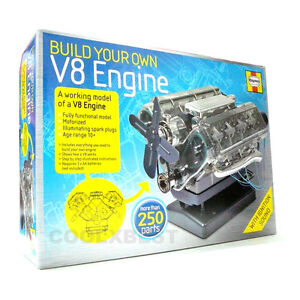 NEW HAYNES BUILT YOUR OWN V8 ENGINE LIGHT & SOUND EDUCATIONAL TOY 250+ PARTS