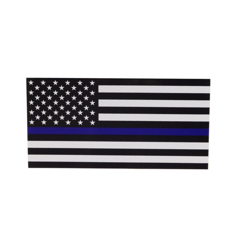 Thin Blue Line Support Police Lives Matter Bumper Sticker Car Truck Window Decal